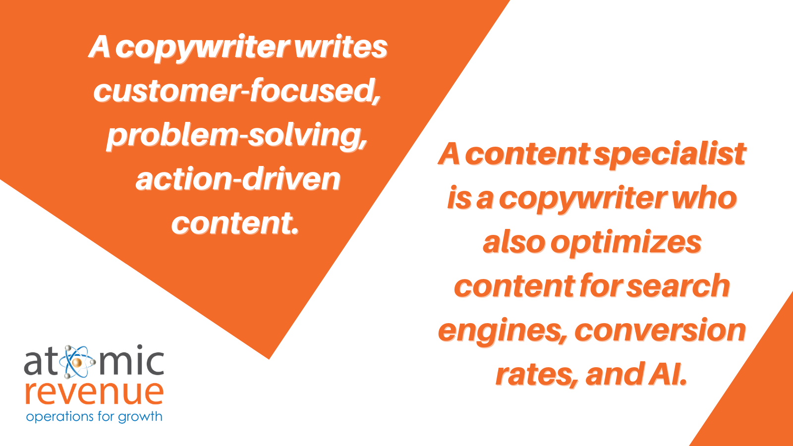 b2b copywriter content specialist difference