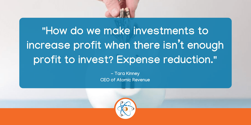 increase profits with expense reduction