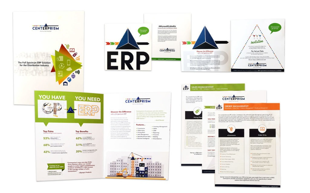 Sales materials and sales collateral examples