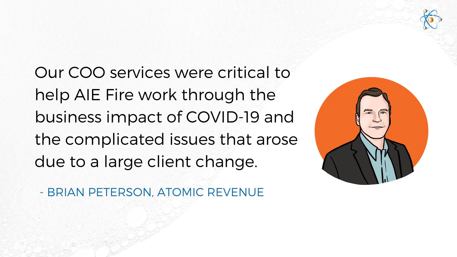 coo services aie fire atomic revenue case study engineering brian peterson