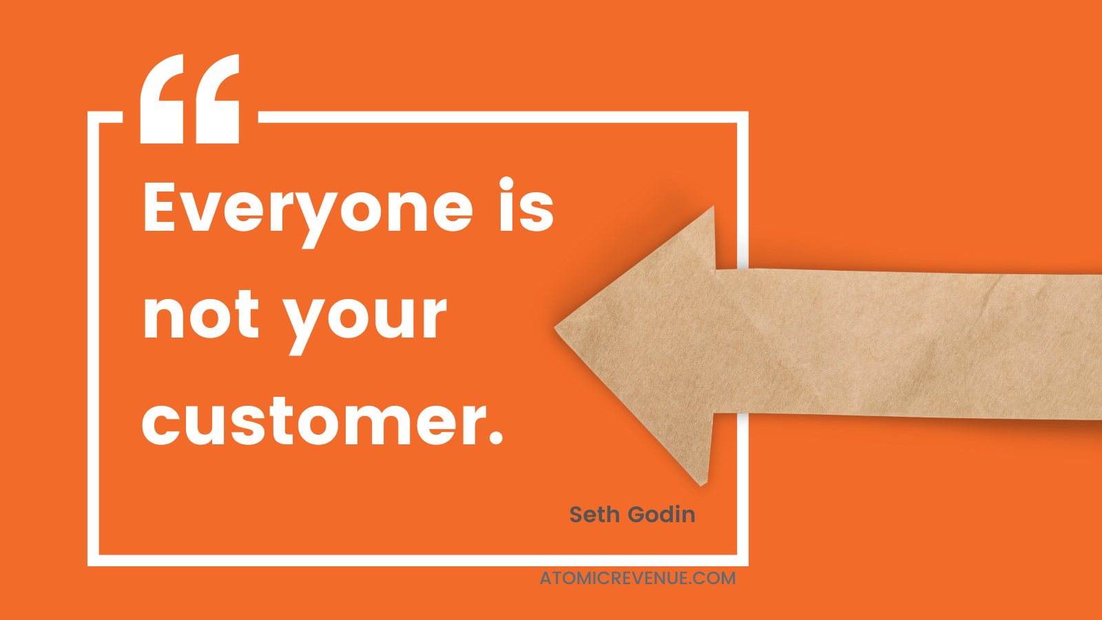 everyone is not your customer atomic revenue seth godin