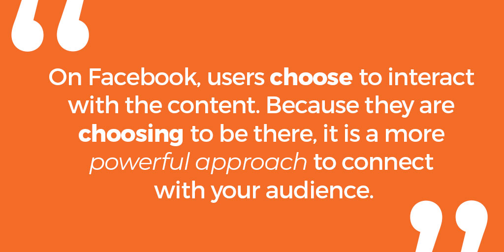 users choose to interact with b2b facebook ads