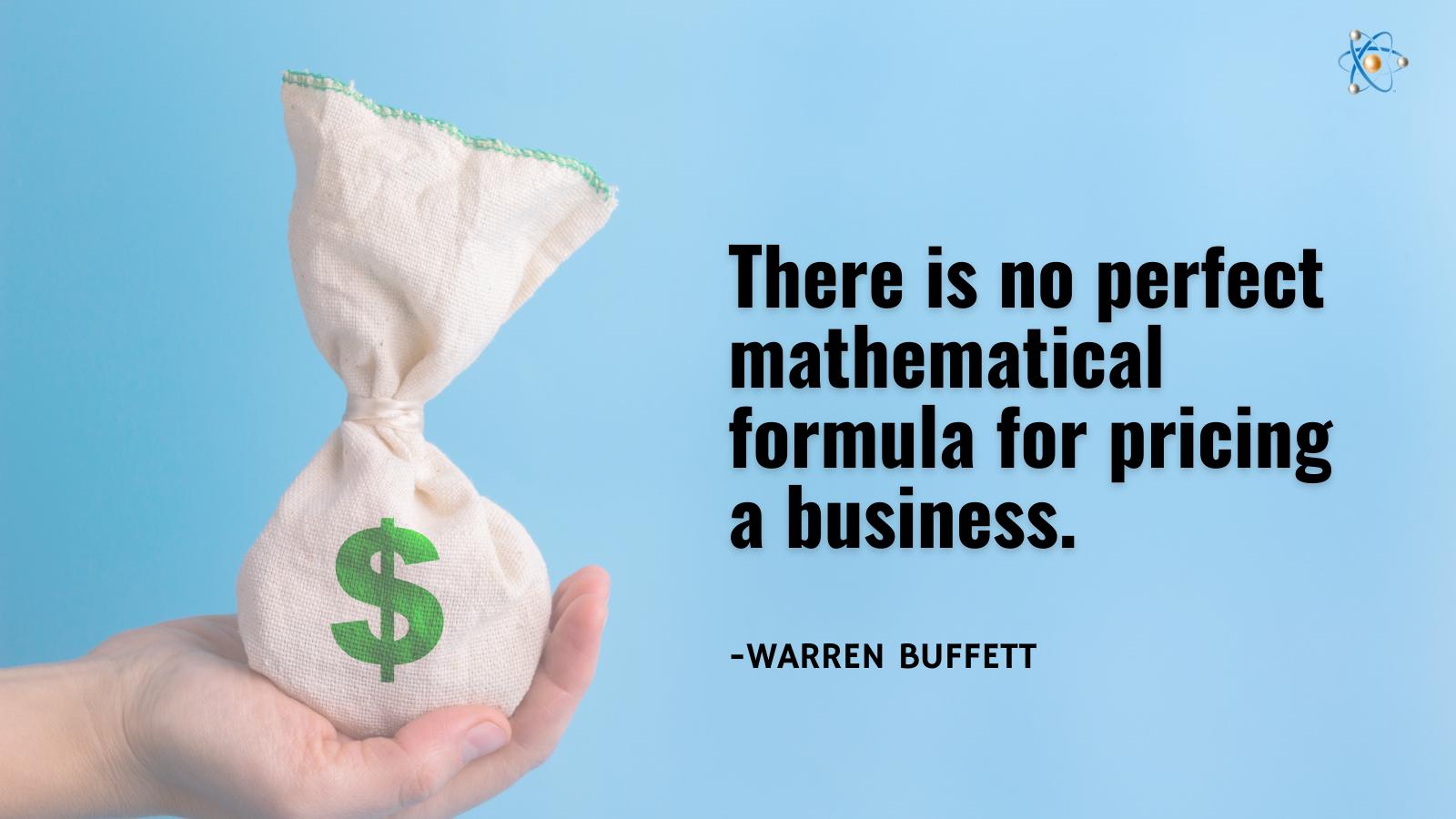 perfect mathematical formula for pricing business warren buffett atomic revenue