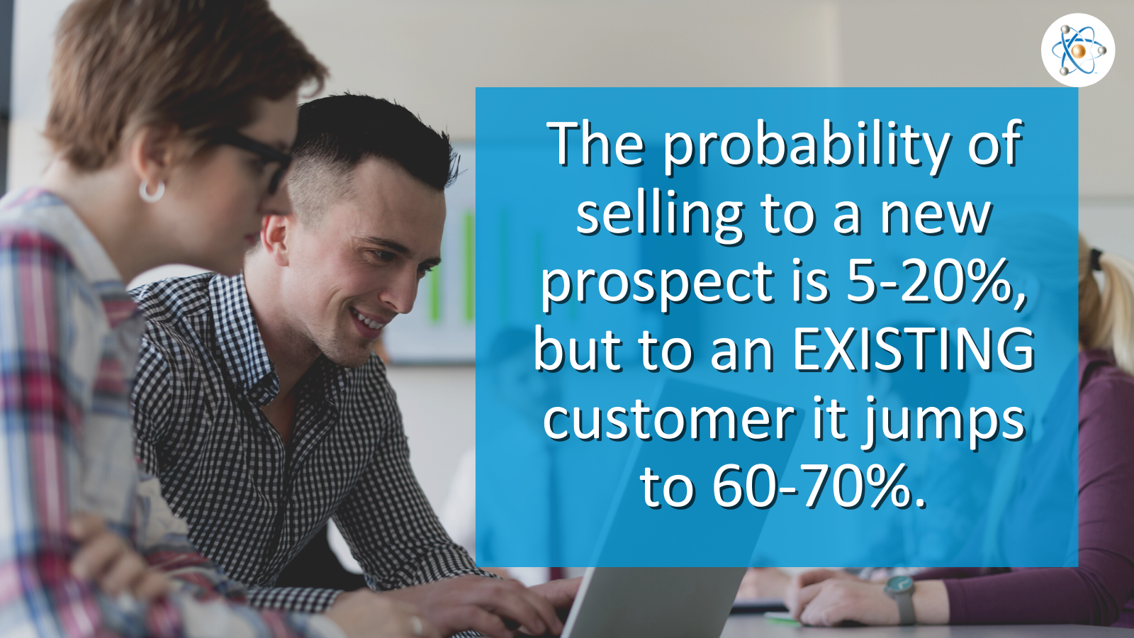 probability of selling to new prospect existing customer statistic atomic revenue customer marketing