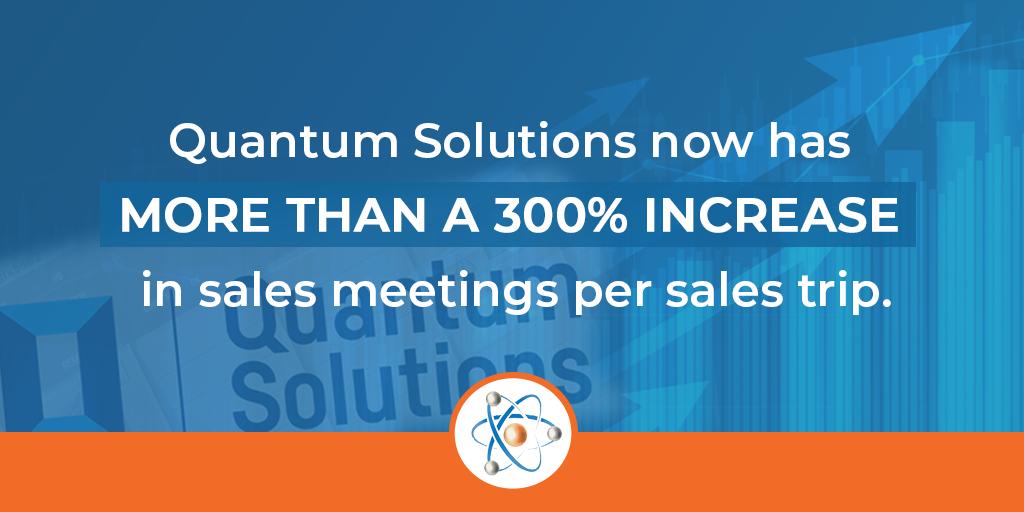 quantum solutions sales increase