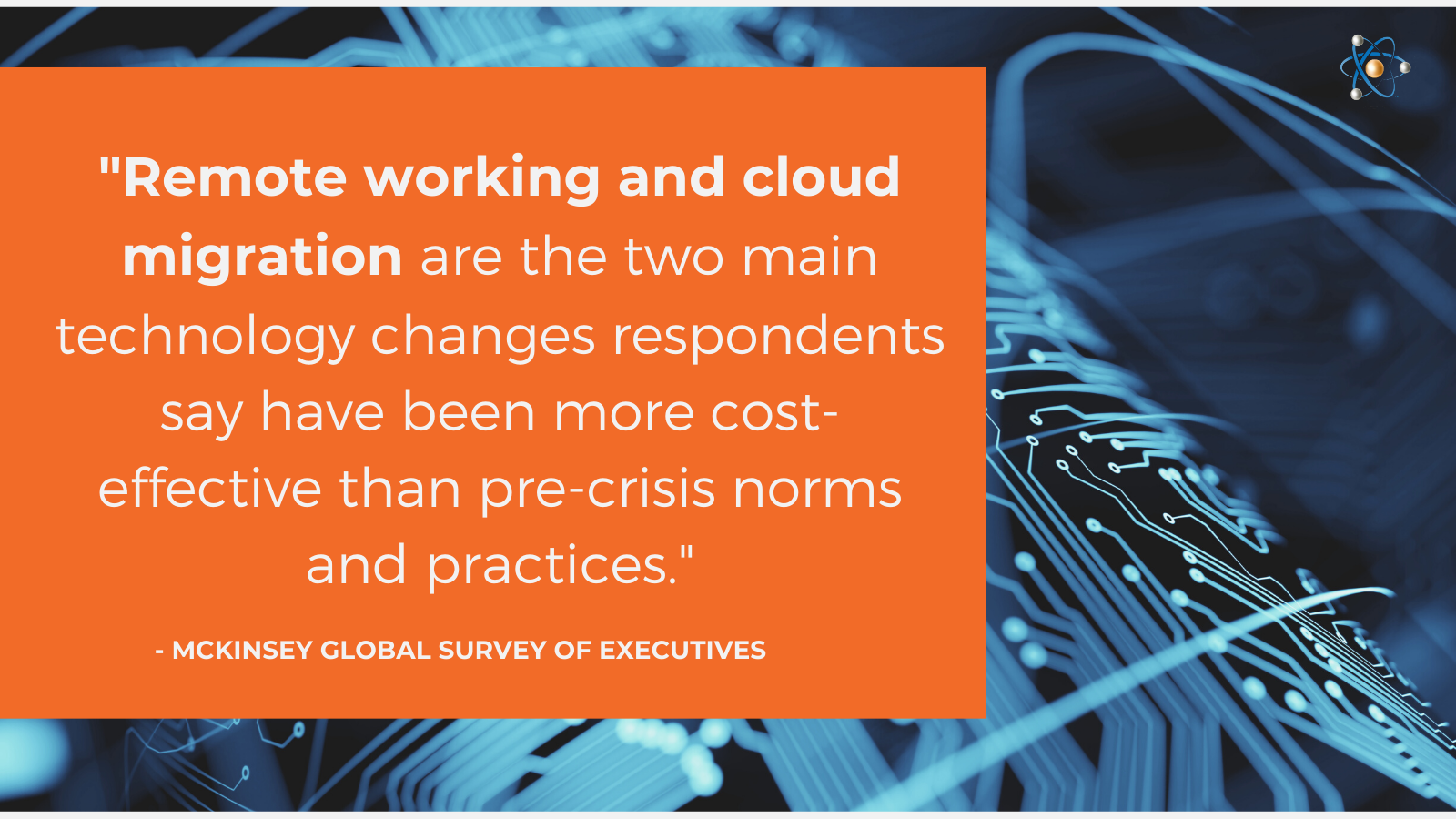 remote working cloud migration technology will become even more important